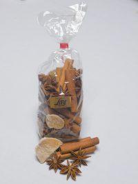 Illustration de sachet d'épices pour vin chaud