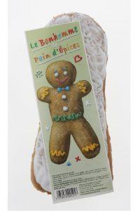 Illustration pain d'épices avec image de Bonhomme