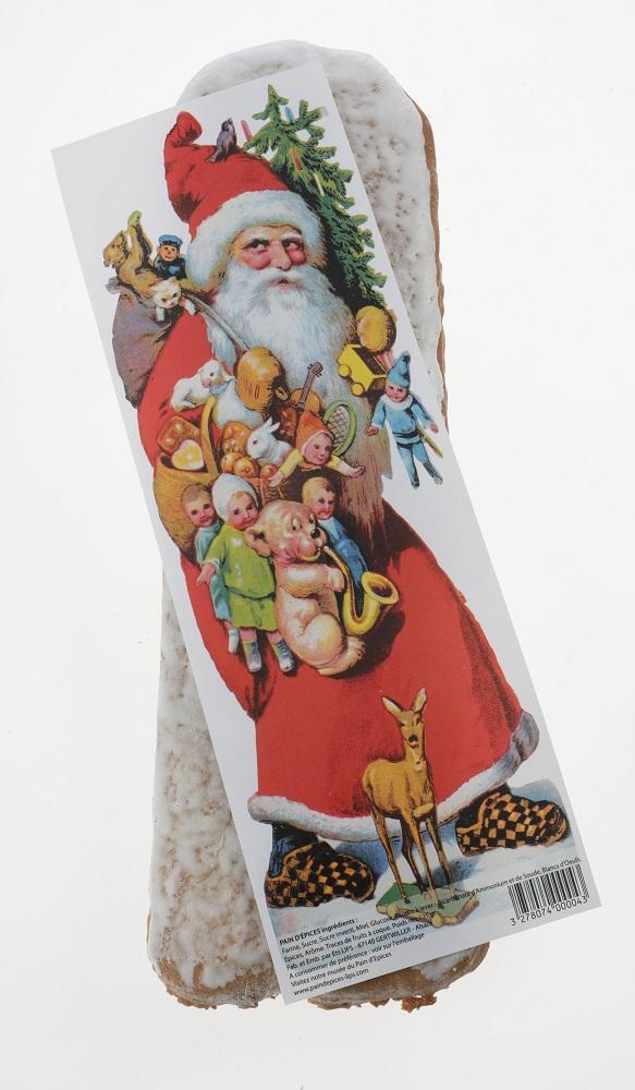 Pain d'épices avec image de Père Noël