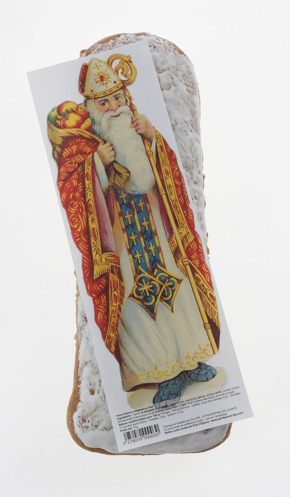 Pain d'épices avec image de Saint Nicolas